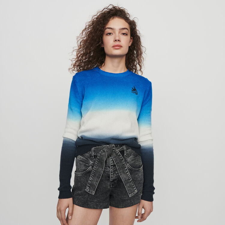 Sweater in color gradient : Pullovers & Cardigans color AZURE BLUE