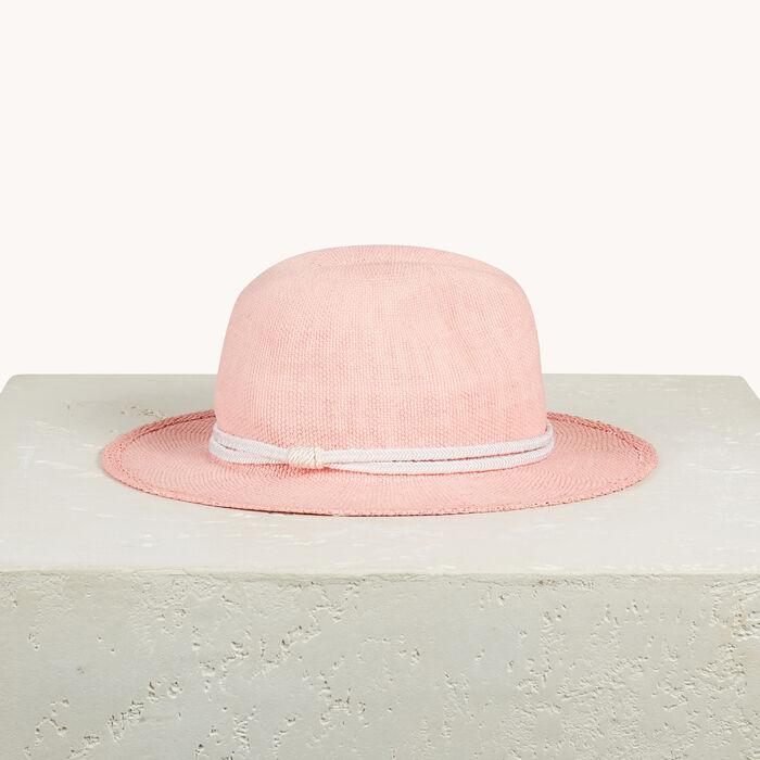 Straw Borsalino hat -  - MAJE
