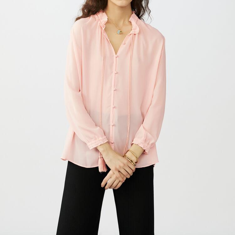 Blouse shirt with drawstring : Shirts color Pink