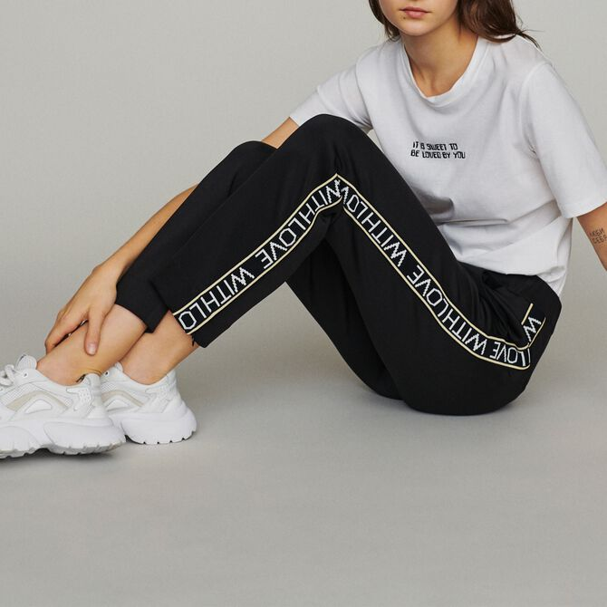 Jogging pants with elastic waist - See all - MAJE
