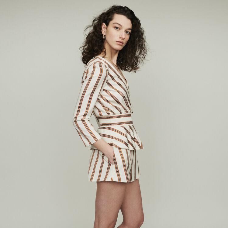 Striped romper : Skirts & Shorts color Stripe