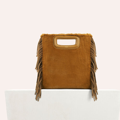 Faux fur M bag : Bags color Caramel