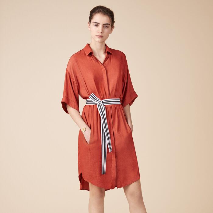 Floaty shirt dress -  - MAJE