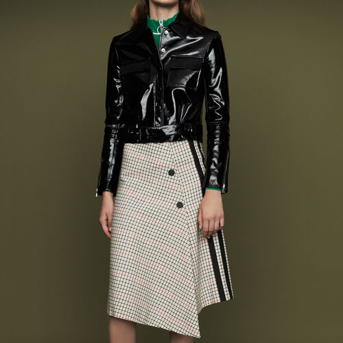 Long asymmetric plaid skirt : Ready to wear color CARREAUX