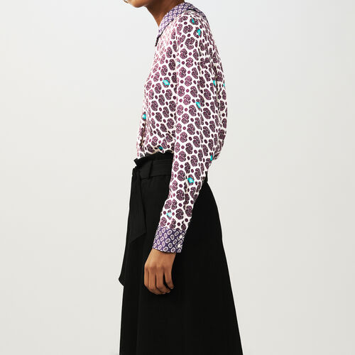 Printed satin top : Tops color PRINTED