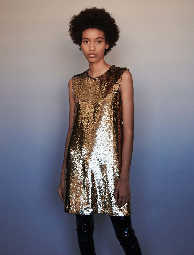 Sequin pencil dress - robe - MAJE