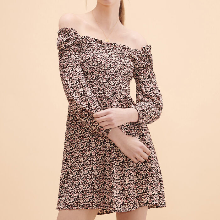 Short dress with floral print - 20% off - MAJE