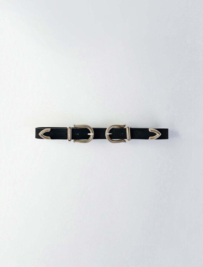 High-waisted double buckle belt - Présoldes-Accessoires-BE - MAJE