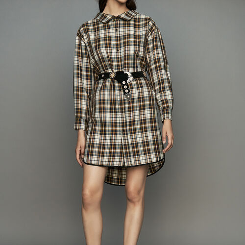 Plaid shirt dress : Dresses color CARREAUX