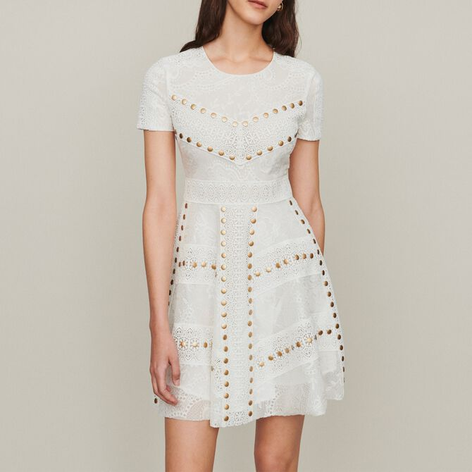 Short skater dress with studs - See all - MAJE