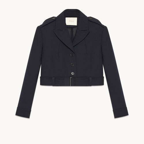 Short jacket with detail on the back : Coats & Jackets color Navy