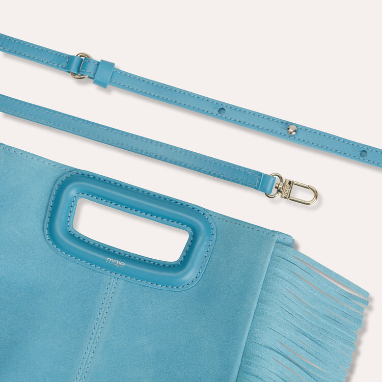 M bag in suede : M bags color Blue