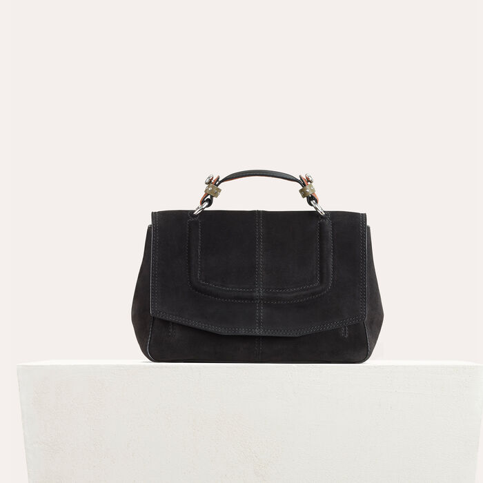 Mini satchel in two-tone suede -  - MAJE