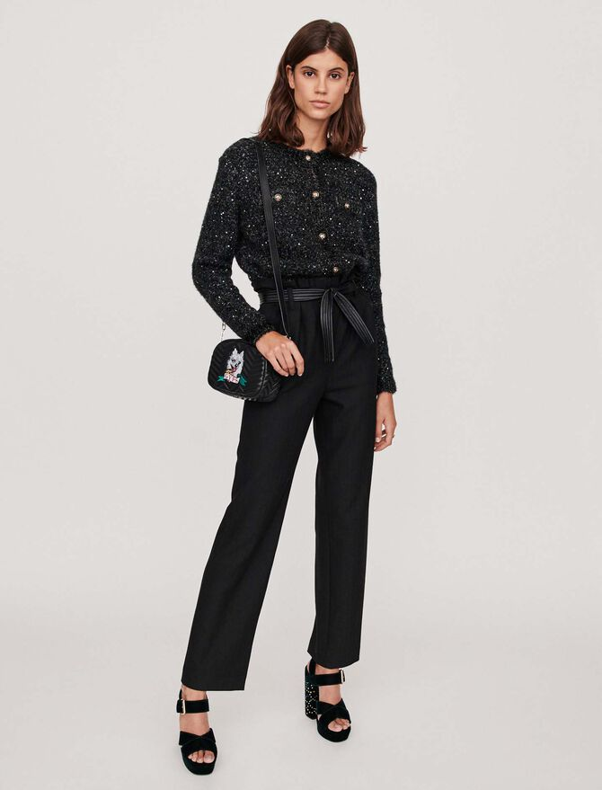 Belted wide-leg pants - Trousers & Jeans - MAJE