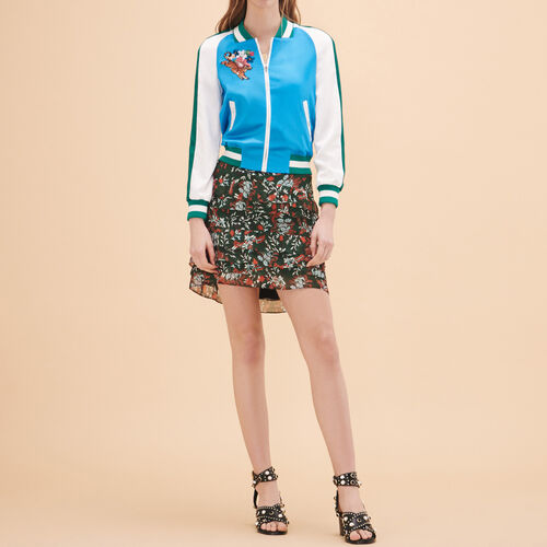 Two-tone varsity jacket : See all color Blue