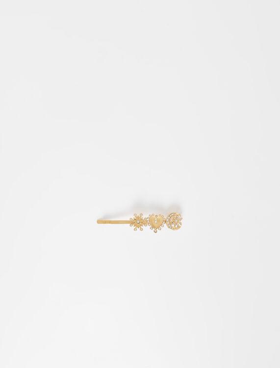 Gold-tone charm hair clip - Jewelry - MAJE