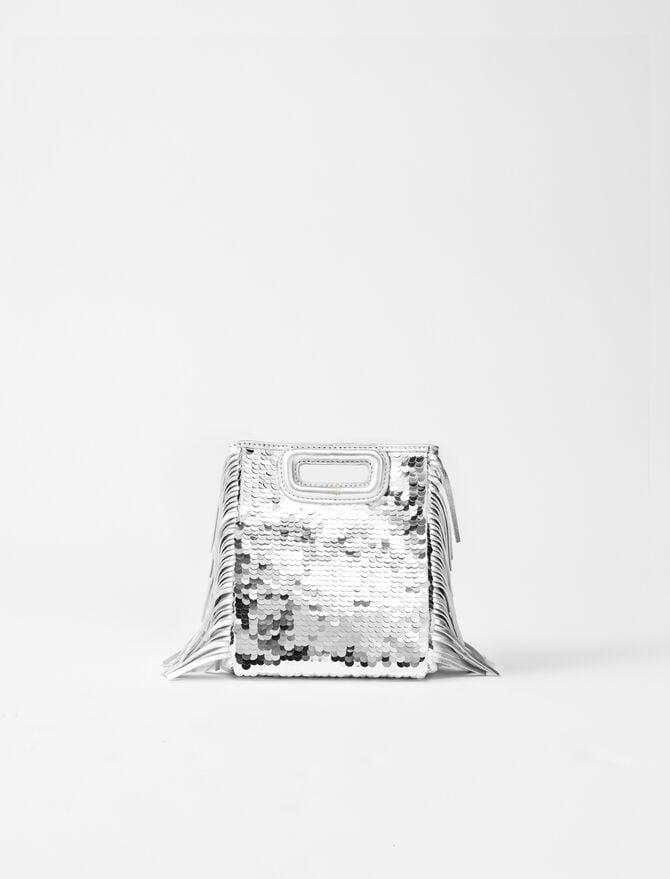 Sequinned leather mini M bag - M Mini - MAJE