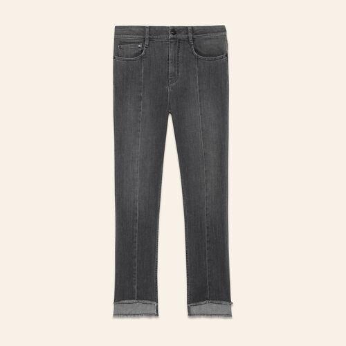 Asymmetric hem jeans - Jeans - MAJE