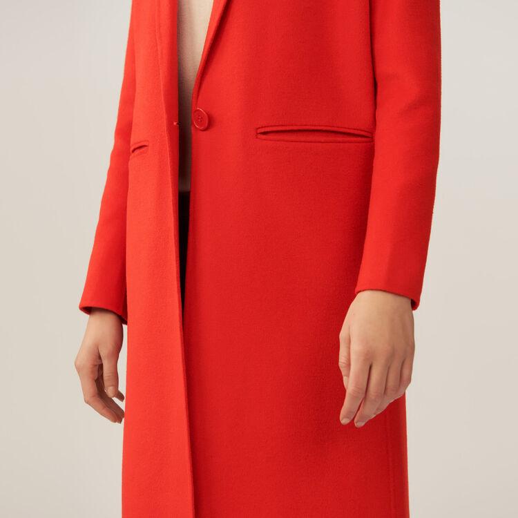 Long double-faced coat : Coats color Orange