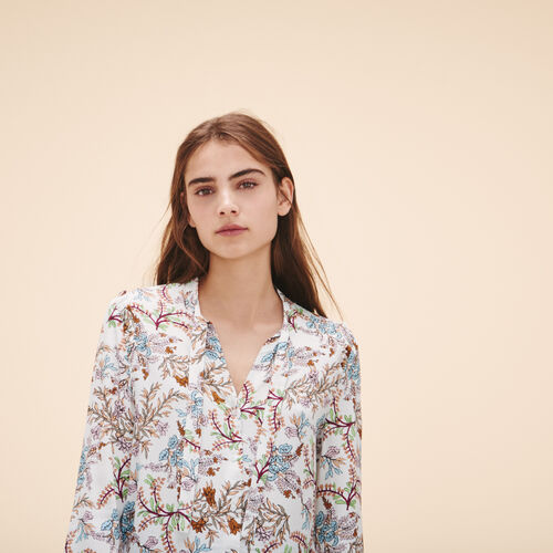 Printed floral blouse - Tops - MAJE