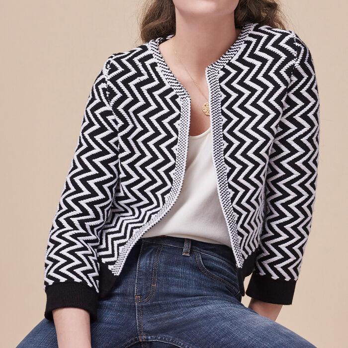 Short fine knit cardigan -  - MAJE
