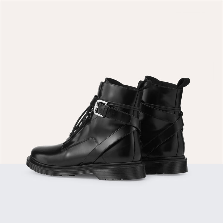 Long leather boots : Accessoires color Black 210