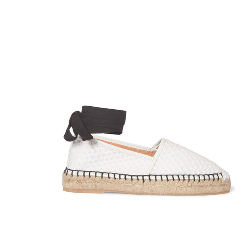 Knitted espadrilles : Accessories color White