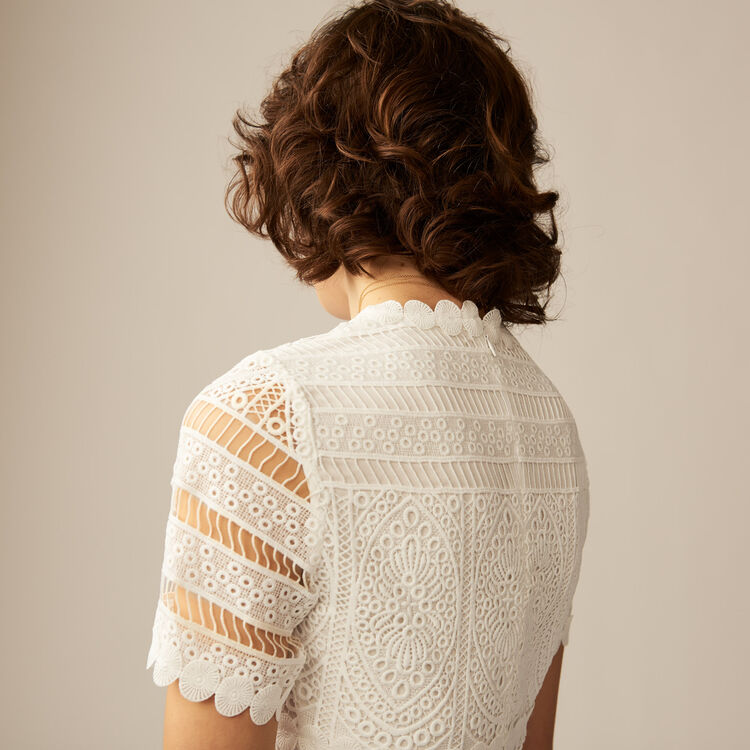 Contoured lace top : Summer collection color ECRU