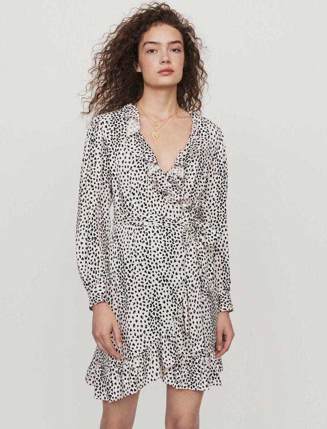 Printed jacquard wrap dress - Best Sellers - MAJE