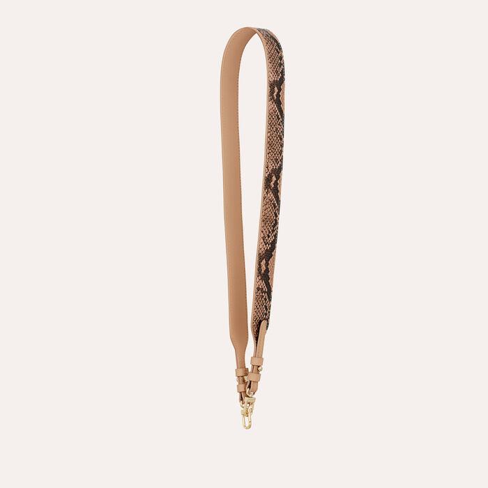 Strap in python leather : Straps color Beige