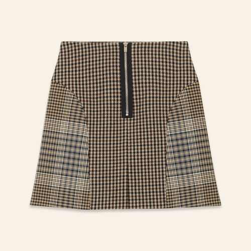 Checked skirt : Skirts & Shorts color Jacquard