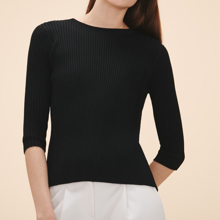Knitted jumper : Sweaters & Cardigans color Black 210