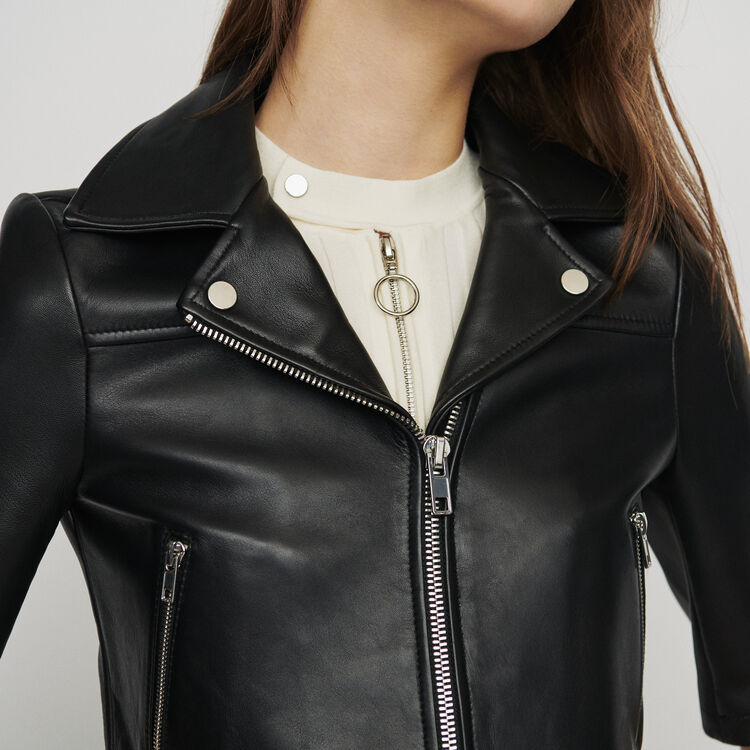 Leather jacket : New in : Summer Collection color Black 210