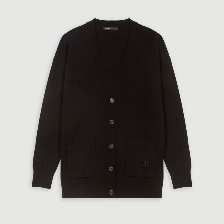 Cashmere cardigan : Winter collection color Black