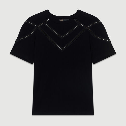 Studded Tshirt : All the collection color Black 210