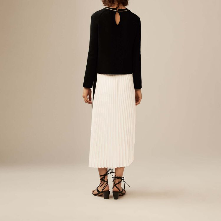 Long pleated skirt : Skirts & Shorts color ECRU