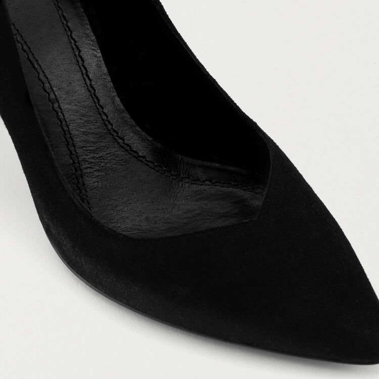 High heals suede shoes : Shoes color Black 210