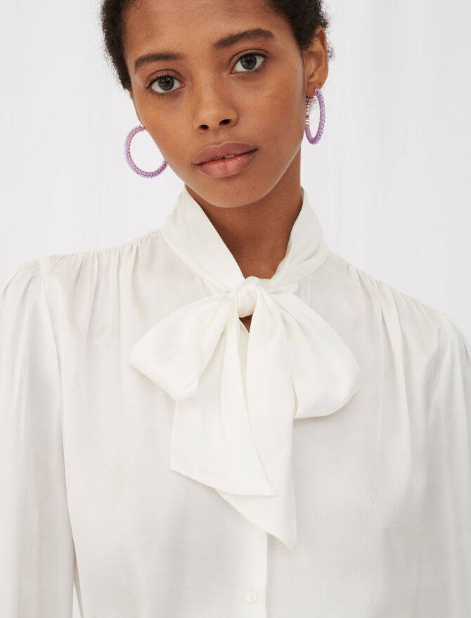 Maje monogram satin shirt - Tops & Shirts - MAJE