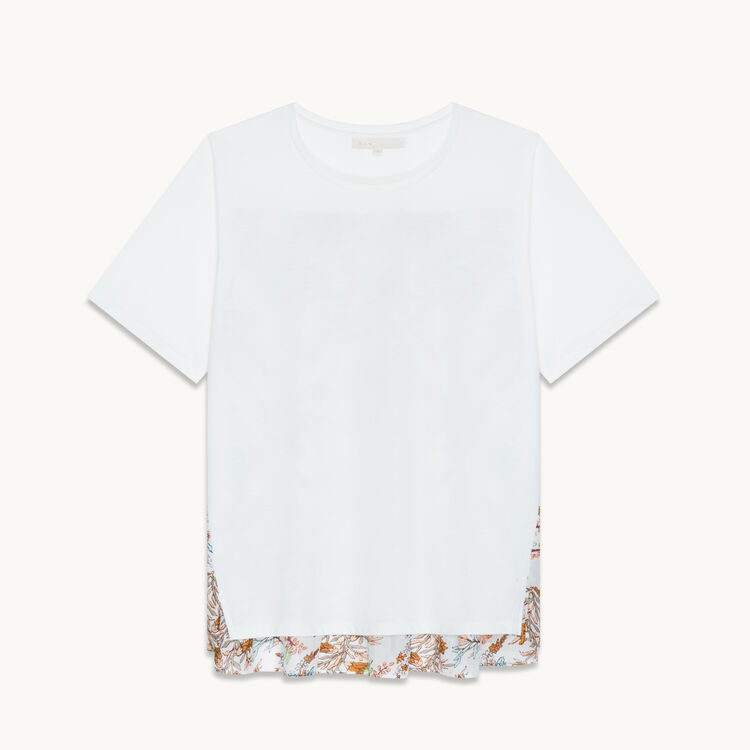 T-shirt with print at the back : T-shirts color Two-Tone