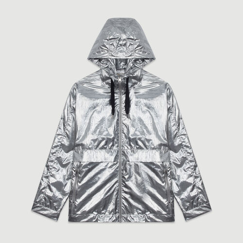 Windproof coat with hood : New in : Summer Collection color Silver