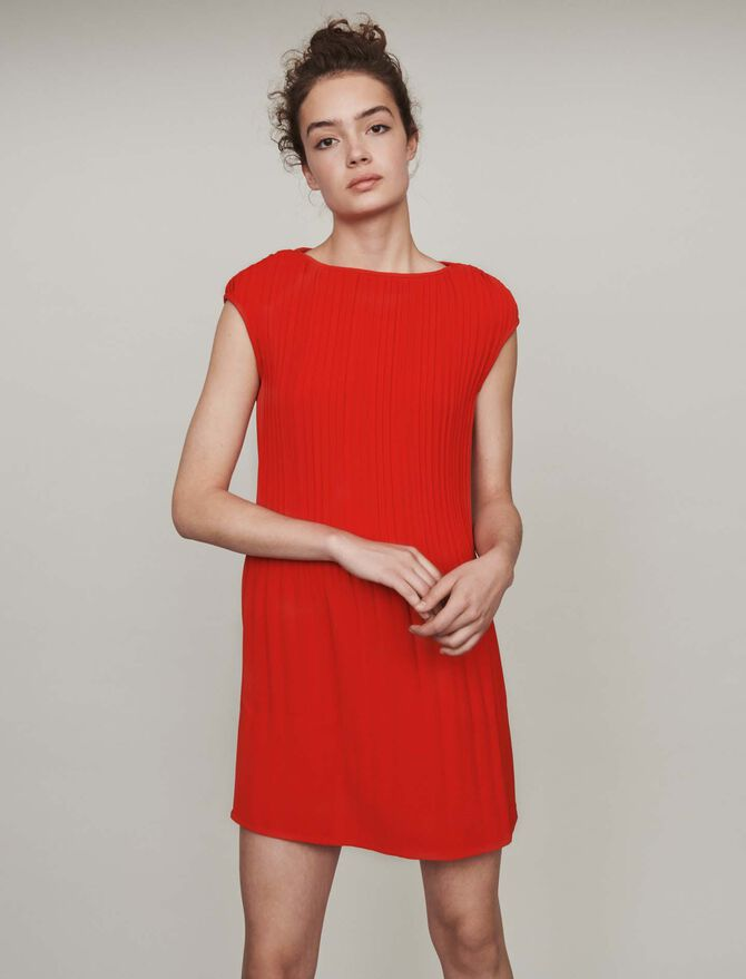 Sleeveless pleated dress - Best Sellers - MAJE
