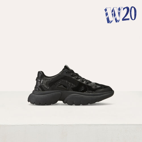 W20 Urban leather sneakers : See all color Black 210