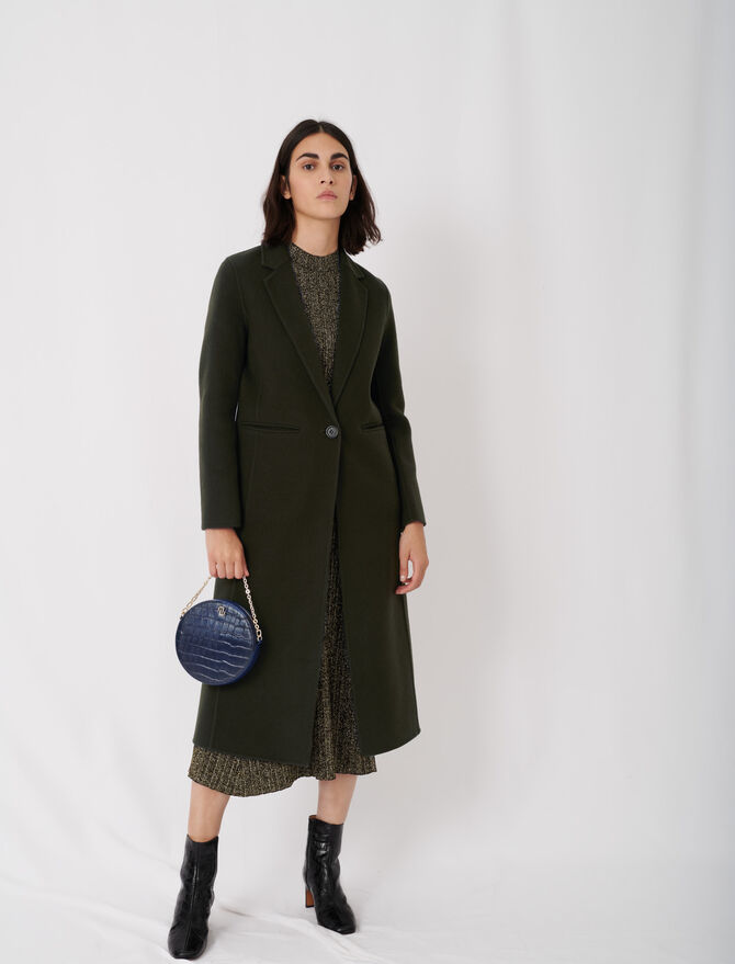 Long double face coat - tout - MAJE