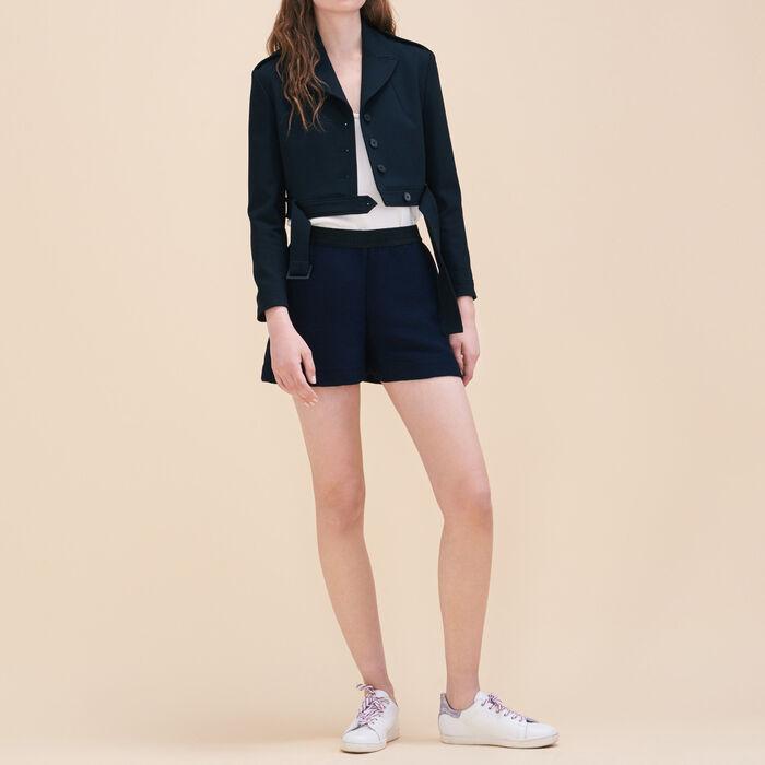 Short shorts in ottoman fabric -  - MAJE