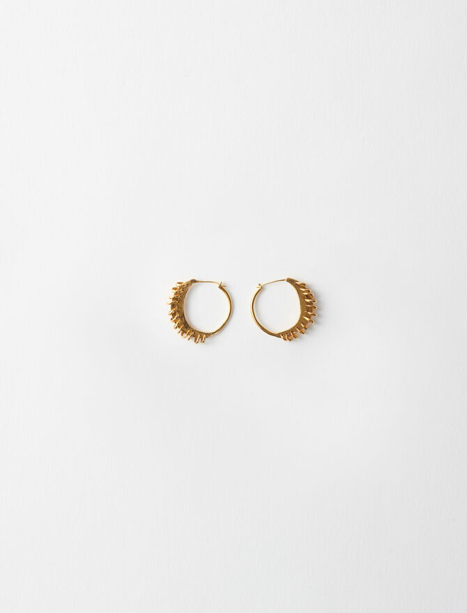 Gold-plated Creole earrings -  - MAJE