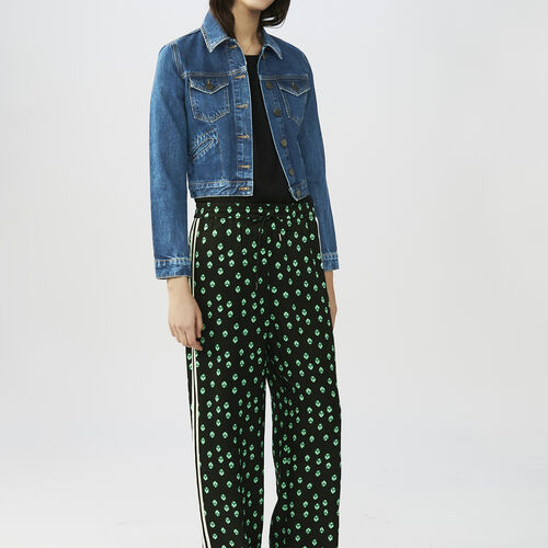 Draped printed pants : Trousers & Jeans color PRINTED