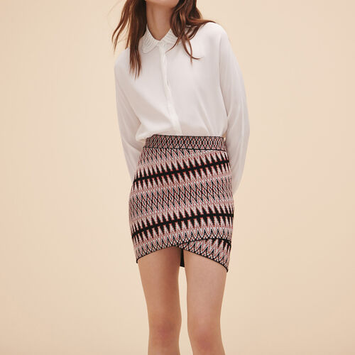 Short jacquard skirt : Skirts & Shorts color Jacquard