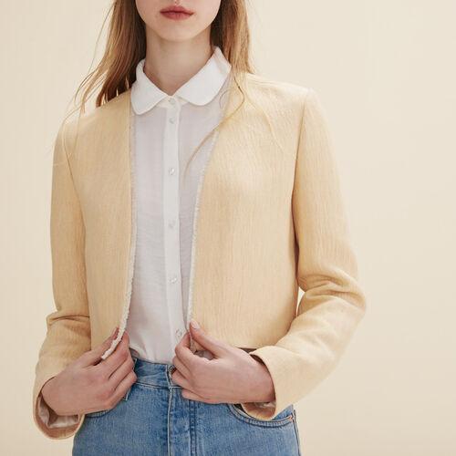 Short jacket : Coats & Jackets color Nude