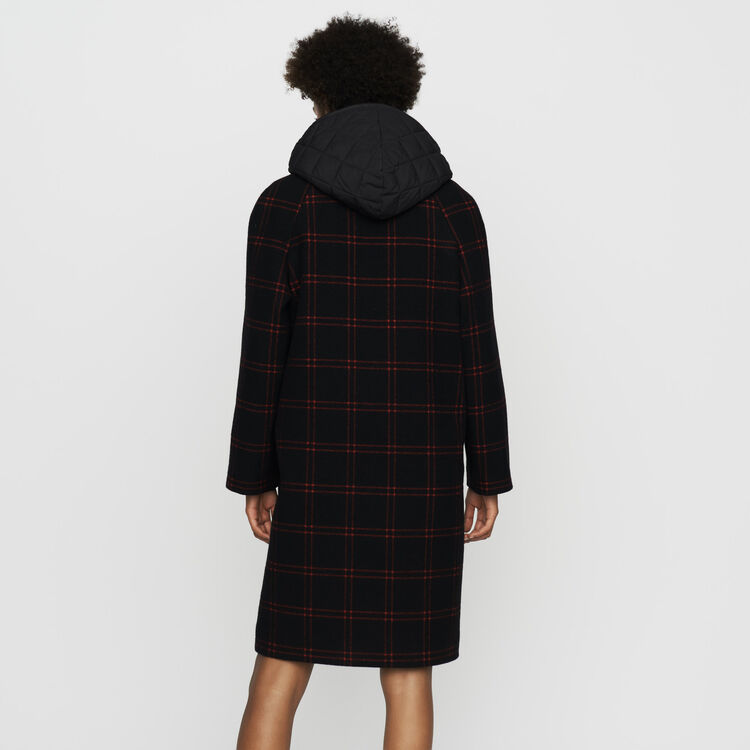 Plaid coat with removable down : Ready to wear color CARREAUX