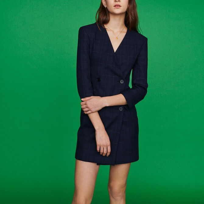 Suit dress in plaid - See all - MAJE